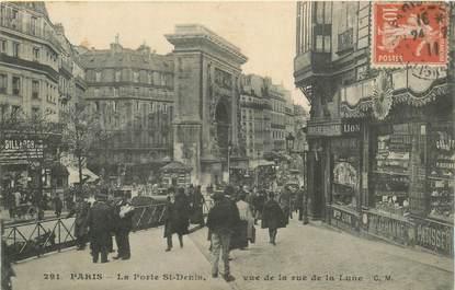 """CPA FRANCE 75010 """"Paris, La Porte Saint Denis vue de la rue de la Lune"""""""
