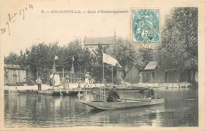 """CPA FRANCE 10 """"Jolainville, le quai d'embarquement"""""""