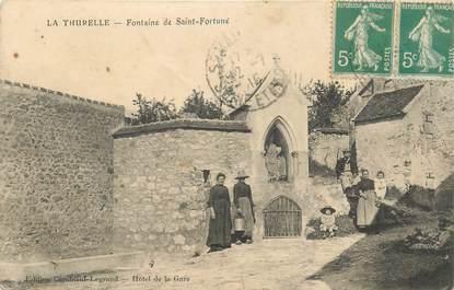 """CPA FRANCE 77 """"La Thurelle, Fontaine de Saint Fortuné"""""""