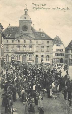 """CPA FRANCE 68 """"Gruss vom Weissssenburger Wochenmarkt"""""""