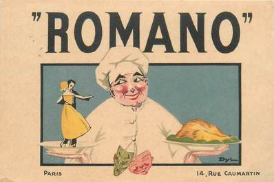 "CPA FRANCE 75009 ""Paris, Rue Caumartin, Restaurant Romano"" / PUB"