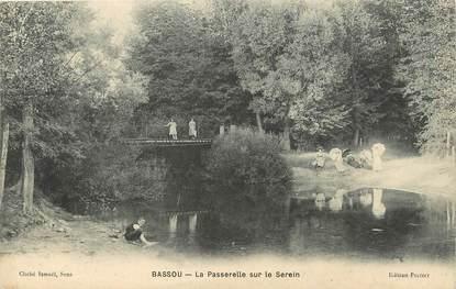 """/ CPA FRANCE 89 """"Bassou, la passerelle sur le serein"""""""