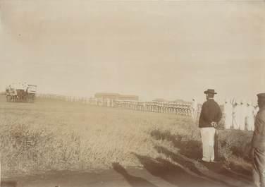 """PHOTOGRAPHIE ORIGINALE / MADAGASCAR """"Arrivée du Gal sur le terrain de la Réserve"""""""
