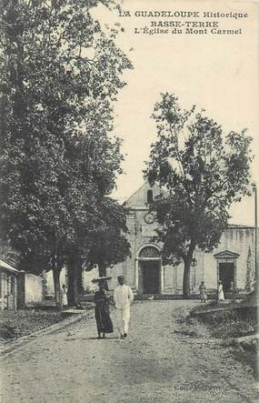 "CPA GUADELOUPE ""Basse Terre, Eglise du Mont Carmel"""
