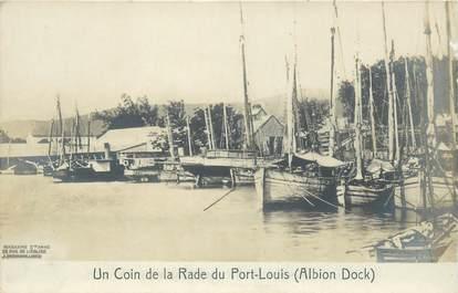 """CPA MAURICE """"Un Coin de la Rade du Port Louis"""""""