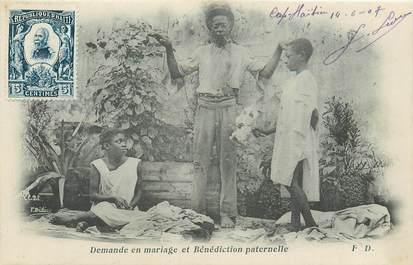 """CPA HAITI """"demande en mariage et bénédiction paternelle"""""""