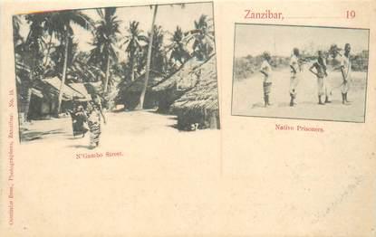 "CPA TANZANIE / ZANZIBAR ""Rue N'Gambo et prisonniers"""