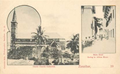 "CPA TANZANIE / ZANZIBAR ""Eglise et l'Hotel Africa"""