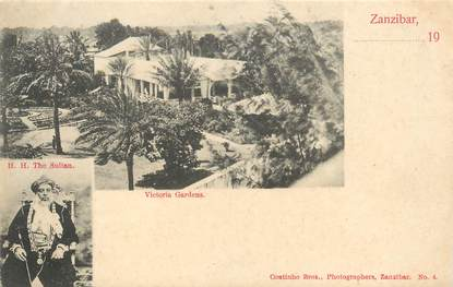 """CPA TANZANIE / ZANZIBAR """"Le Sultan et le Jardin Victoria"""""""