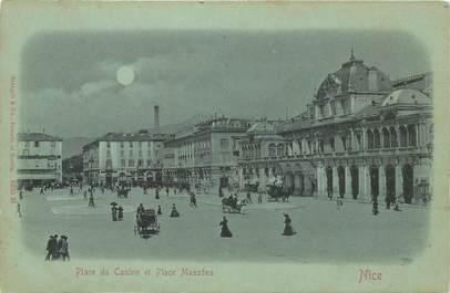 """CPA FRANCE 06 """"Nice, Place du Casino et Masséna"""" / Collection Bleu à la lune"""
