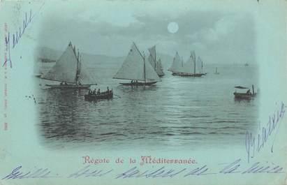 """CPA FRANCE 06 """"Régates sur la Méditerranée"""" / Collection Bleu à la lune"""