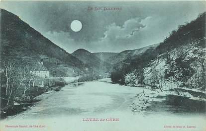 """CPA FRANCE 46 """"Laval de Cère"""" / Collection Bleu à la lune"""