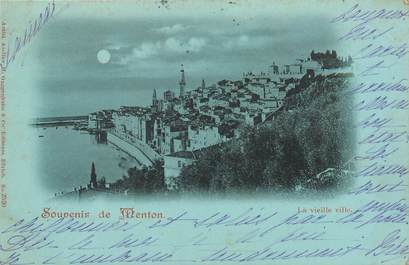 "CPA FRANCE 06 ""Menton, la vieille ville"" / Collection Bleu à la lune"