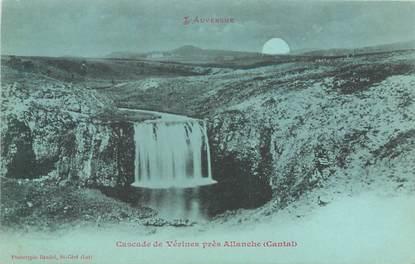 """CPA FRANCE 15 """"Cascade de Vérines près Allanche"""" / Collection Bleu à la lune"""