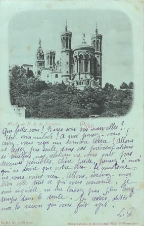 """CPA FRANCE 69 """"Lyon, Abside de ND de Fourvière"""" / Collection Bleu à la lune"""