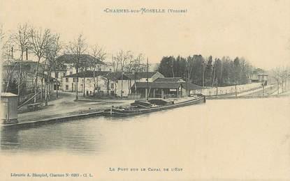 """/ CPA FRANCE 88 """"Charmes sur Moselle, le port sur le canal de l'est"""" / PENICHE"""