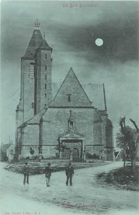 """CPA FRANCE 46 """"Eglise d'Assier"""" / Collection Bleu à la lune"""