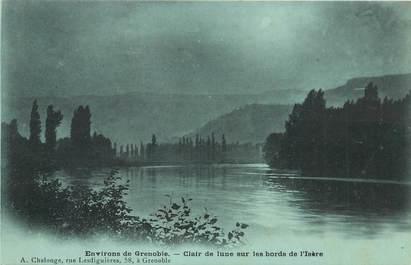 """CPA FRANCE 38 """"Grenoble, les bords de l'Isère"""" / Collection Bleu à la lune"""