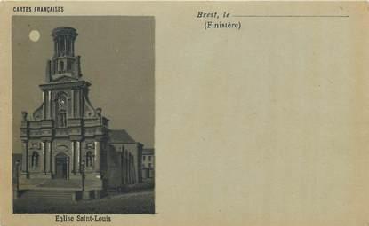 """CPA FRANCE 29 """"Brest, Eglise Saint Louis"""" / Collection Bleu à la lune"""