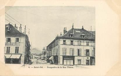 """/ CPA FRANCE 88 """"Saint Dié, perspective de la rue Thiers"""""""