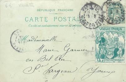 """MARCOPHILIE VIGNETTE sur CPA FRANCE 75 """"Paris"""""""