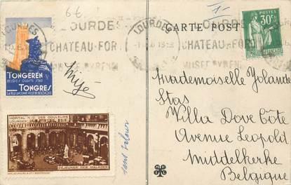 """MARCOPHILIE VIGNETTE sur CPA FRANCE 65 """"Lourdes"""""""
