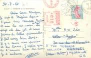 Marcophilie (Lettre Et Cartes) MARCOPHILIE EMA FRANCE sur CPSM 74 Megève