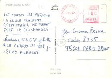 MARCOPHILIE EMA FRANCE sur CPSM 13 Aubagne
