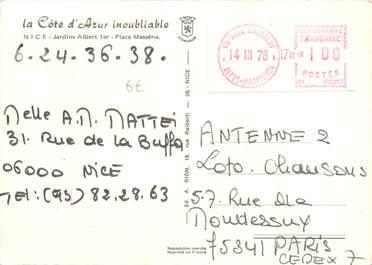 MARCOPHILIE EMA FRANCE sur CPSM 06 Nice