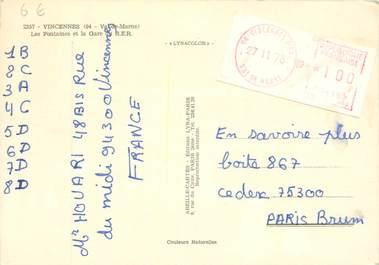 MARCOPHILIE ENTIER POSTAL FRANCE sur CPSM 94 Vincennes