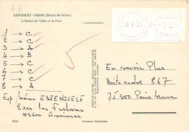 MARCOPHILIE EMA FRANCE sur CPSM 92 Asnières