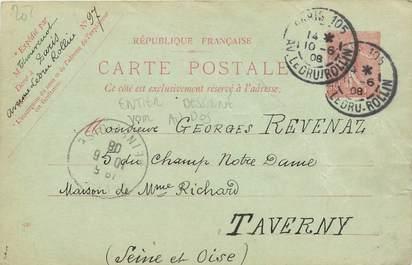 MARCOPHILIE ENTIER POSTAL FRANCE sur CPA FANTAISIE CARTE DESSINEE
