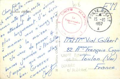 MARCOPHILIE GUERRE D'ALGERIE sur CPA / Unité marine Oran