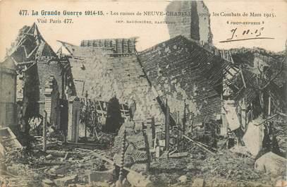 """CPA FRANCE 62 """"Neuve Chapelle, les ruines"""""""