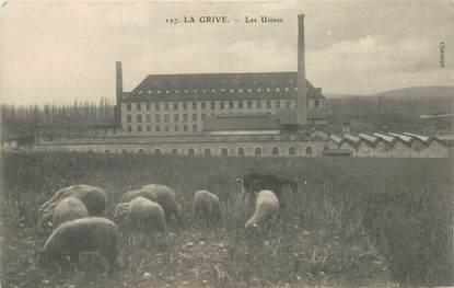 """CPA FRANCE 38 """"La Grive, les Usines"""""""