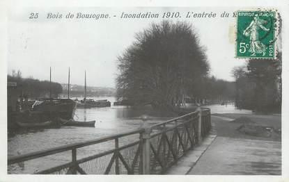 """/ CPA FRANCE 75016 """"Paris, bois de Boulogne, inondation 1910"""""""