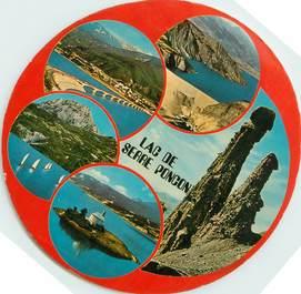 "CPSM FRANCE 05 ""Lac de Serre Poncon"" / FORMAT SPECIAL en cercle"