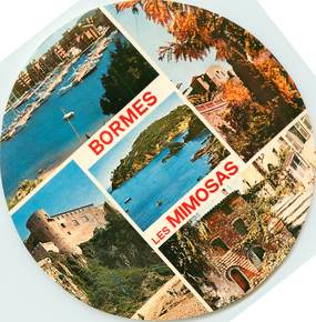 """CPSM FRANCE 83 """"Bormes les Mimosas"""" / FORMAT SPECIAL en cercle"""