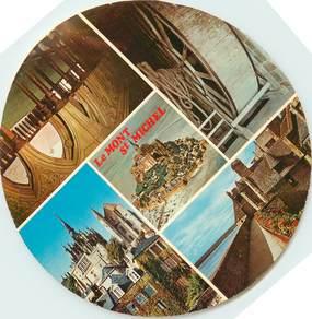 """CPSM FRANCE 50 """"Le Mont Saint Michel"""" / FORMAT SPECIAL en cercle"""