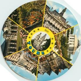 """CPSM FRANCE 37 """"Tours"""" / FORMAT SPECIAL en cercle"""