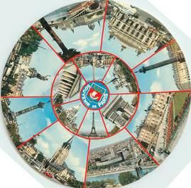 """CPSM FRANCE 75 """"Paris"""" / FORMAT SPECIAL en cercle"""