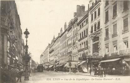 """CPA FRANCE 69 """"Lyon, rue de la république, le Casino Kursaal"""""""