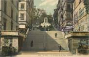 """69 RhÔne CPA FRANCE 69 """"Lyon, l'Escalier de la Place Sathonay"""""""