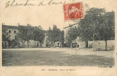 """CPA FRANCE 69 """"Oullins, la place de l'Eglise"""""""
