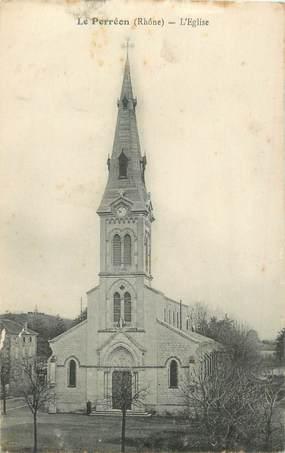 """CPA FRANCE 69 """"Le Perréon, L'Eglise"""""""