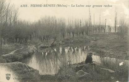 """CPA FRANCE 69 """"Pierre Bénite, La Laône aux grosses roches"""""""