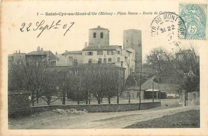 "CPA FRANCE 69 ""Saint Cyr au Mont d'Or, Place Neuve"""