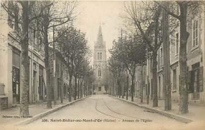 """CPA FRANCE 69 """"Saint Didier au Mont d'Or, avenue de l'Eglise"""""""