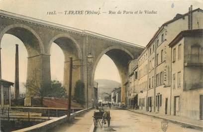 """CPA FRANCE 69 """"Tarare, rue de Paris et le viaduc"""""""