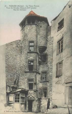 """CPA FRANCE 69 """"Tarare, Tour de l'Ancien prieuré, rue du Chateau"""""""